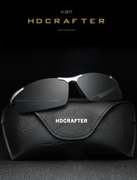 HD Crafter Men Quality Half Frame Magnesium Alloy Polarized Sunglasses