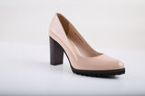High quality Office work women genuine leather high heel shoes