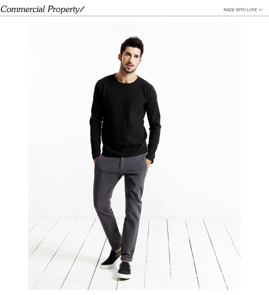 High Quality Slim Fit Casual Zipper Pants for Men