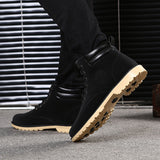 Quality Men Ankle Fur Lined Cozy Shoes with shoe lace