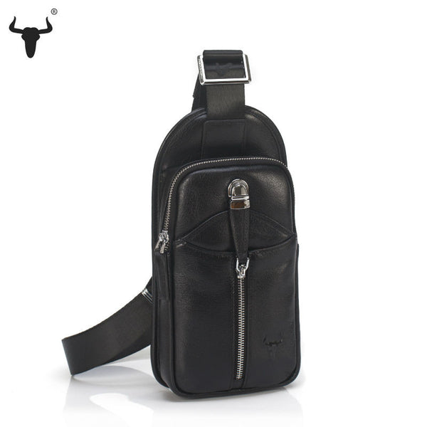 Quality Leather Men's Casual Cross Shoulder Chest Bag