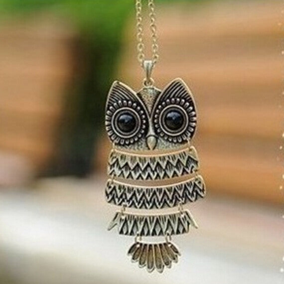 Vintage Big Eye Owl crafted design Pendant