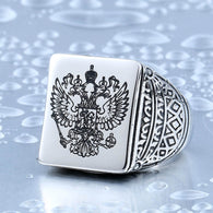 The Russian Code of Arms Men's Signet Stainless Steel Rings