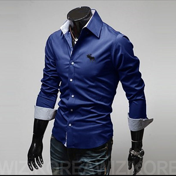 2016 Men slim fit casual Shirts