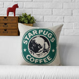 American Style Pug Cartoon Cushion Covers