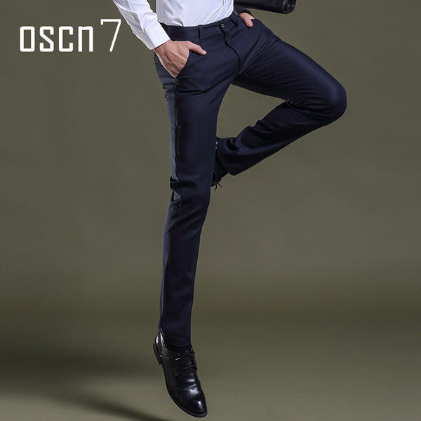 Men Business Slim Fit Stretch Pants