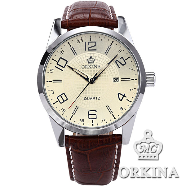 2016 Men Fashion Business Casual Quartz  Wrist Watch