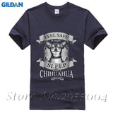 Chihuahua Men's Cotton Short Sleeve Round Neck T Shirts T-Shirts