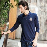 Men Pioneer Camp Branded Long Sleeve Polo Shirt