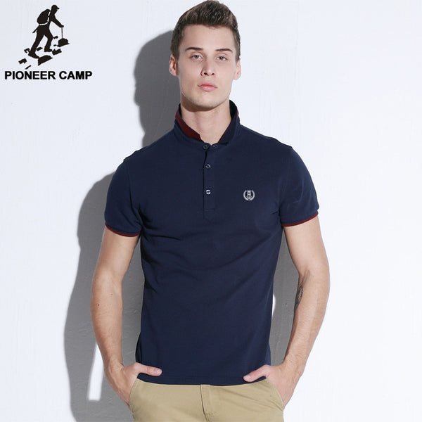 Pioneer Camp Brand short sleeve Men Polo Shirt
