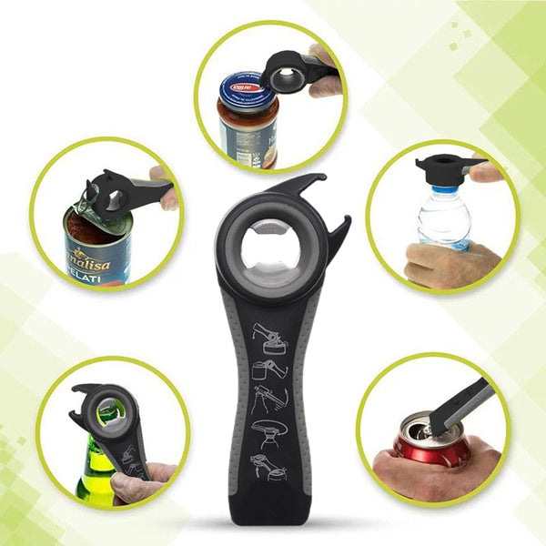 Multi Functional 5-IN-1 Cans & Bottles Opener for the household Kitchen