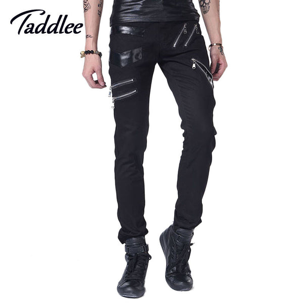 Men casual Pencil pants with deco faked zipper