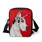 Colorful Dog-Themed Shoulder Bag