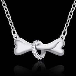 Elegant Dog Bone Pendant