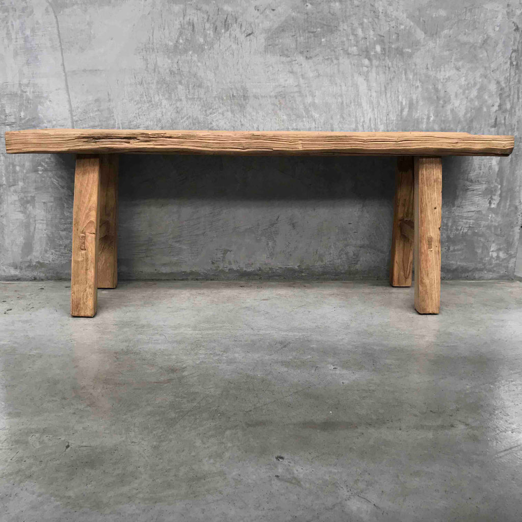 Wide Elm bench
