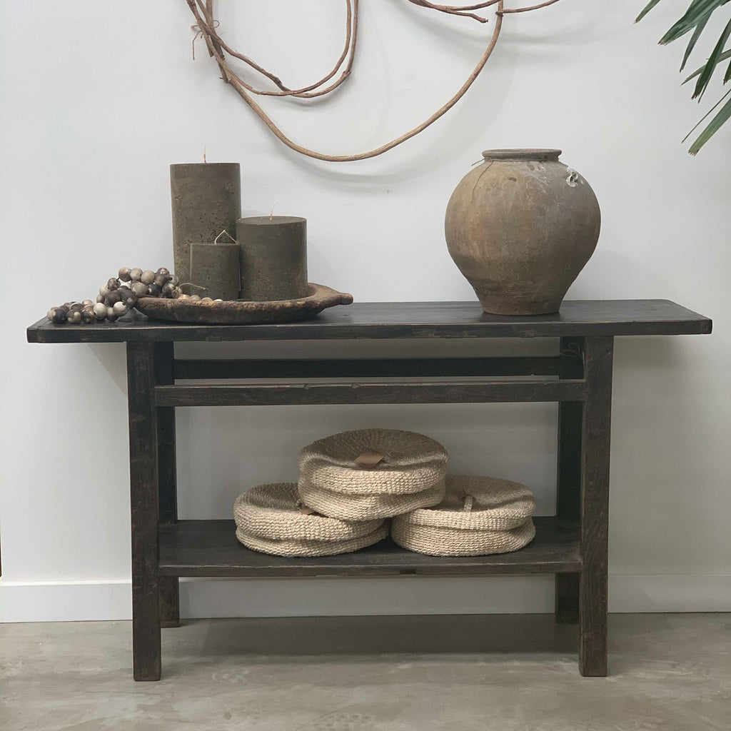 Dark console table