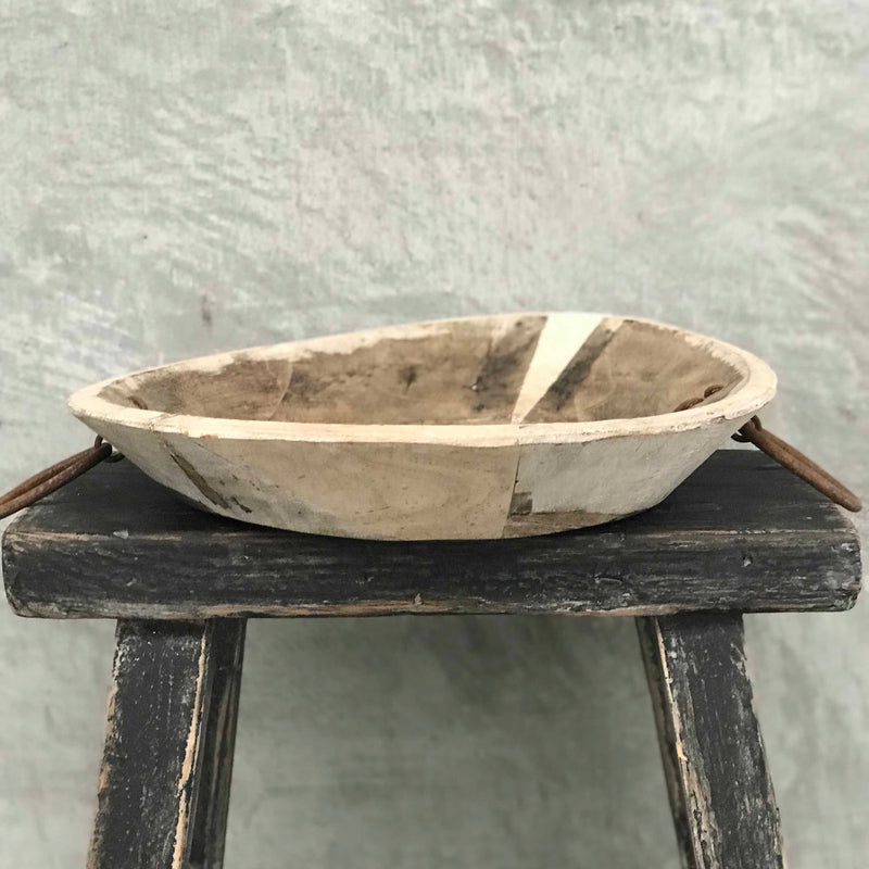 Old Parat Bowl with Iron Ring