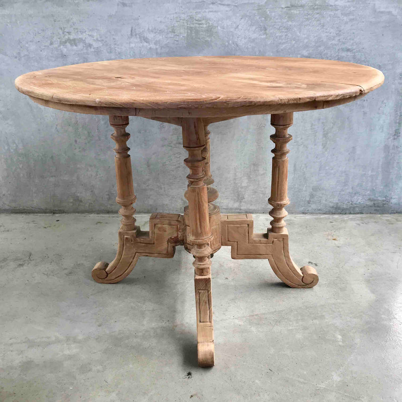 Vintage teak round colonial table