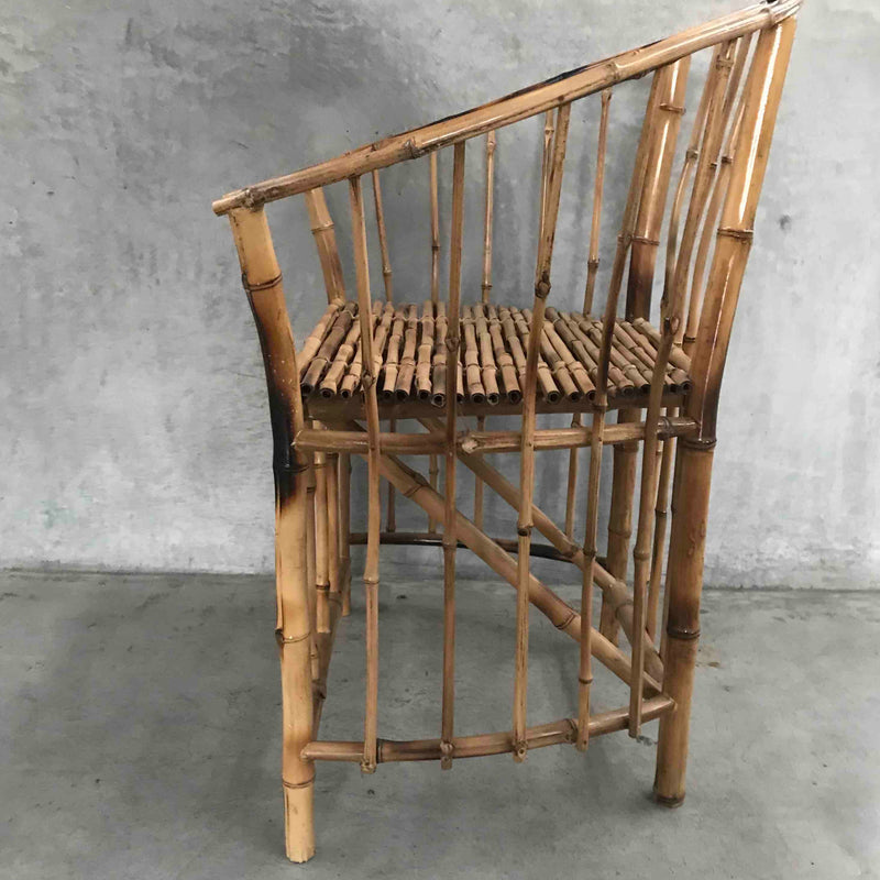 Bamboo dining chair round