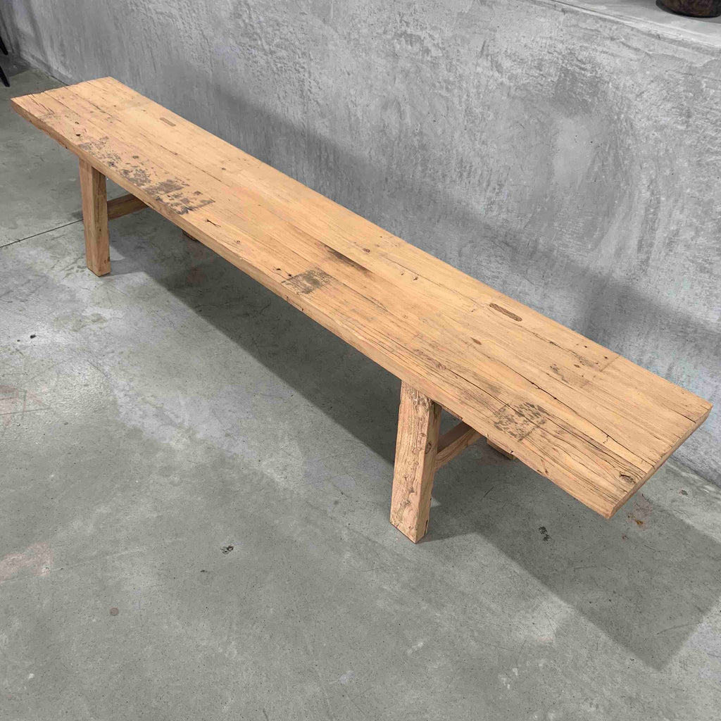 Low Elm Bench Seat