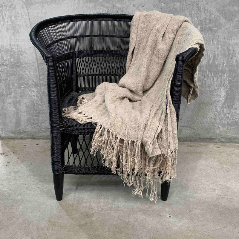 Black Moroccan Wedding Blanket