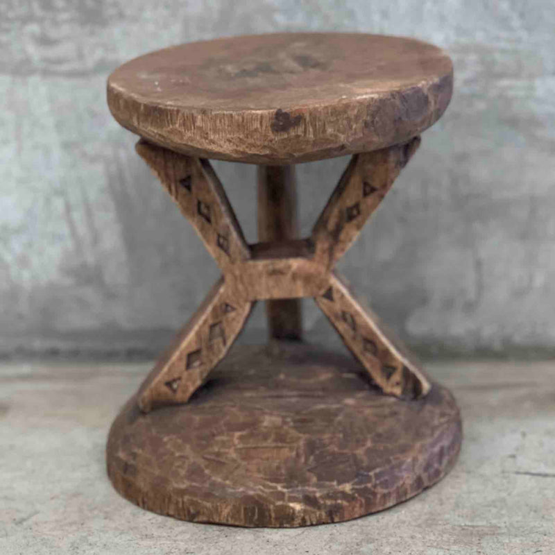 Antique African stool small