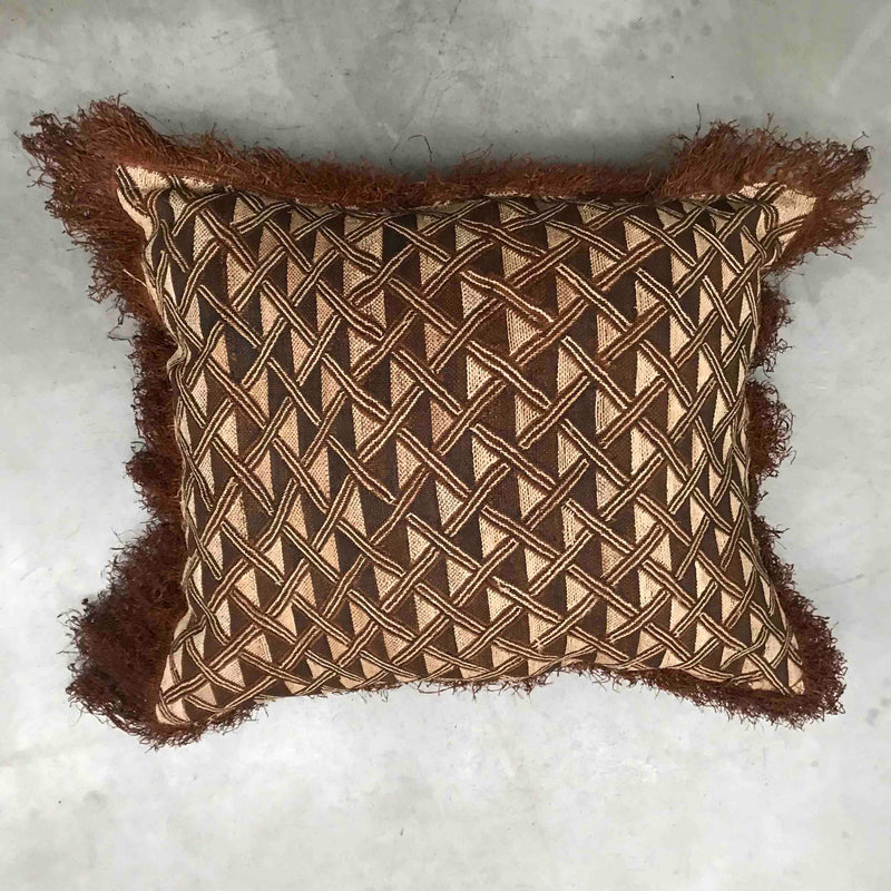 Crochet Raffia Cushion