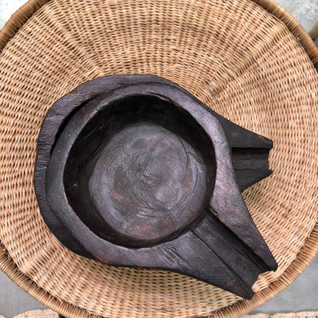 Wooden Bowl with Spout