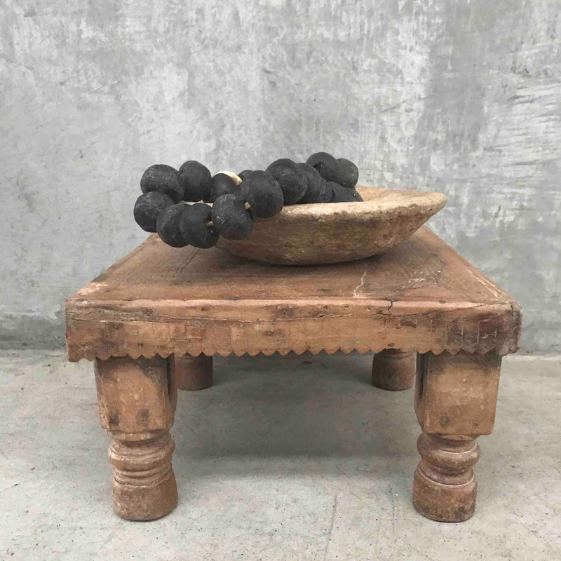 Small Wooden Bajot Table