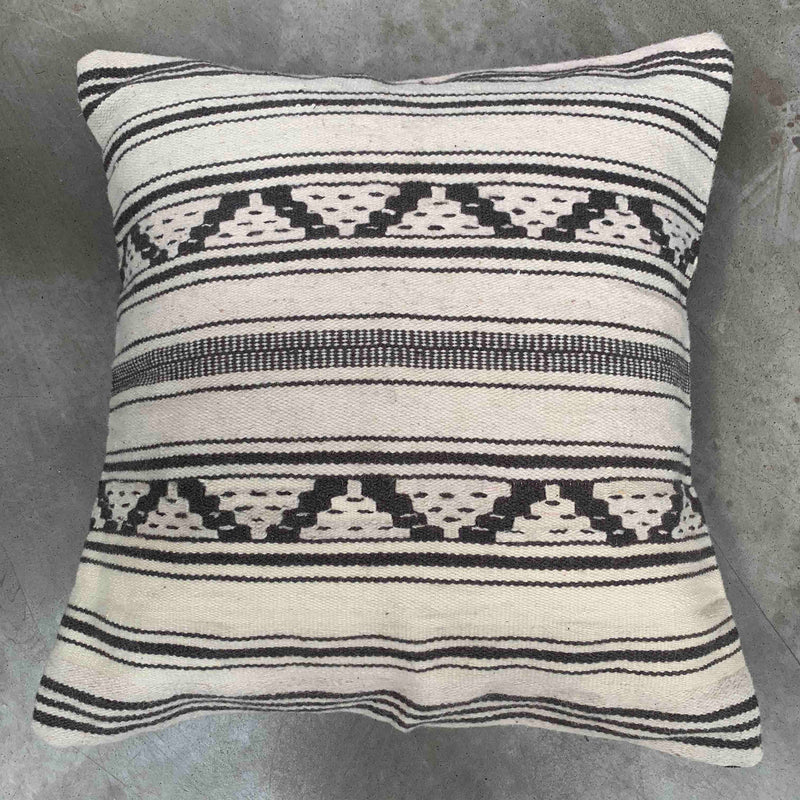 Dusty Black and White Cushion Cover