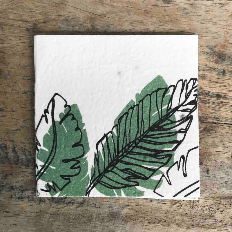 Plantable Gift Tag - Palm Design