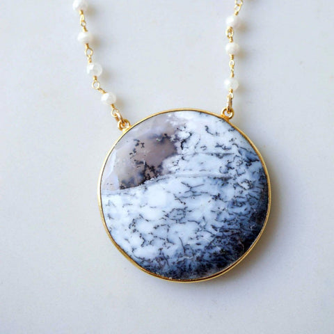 Dendritic agate statement pendant lilpengee jewelry dendritic agate statement pendant aloadofball Choice Image
