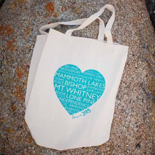 Heart Tote - Teal