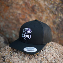 Embroidered Logo Trucker Hat, Black