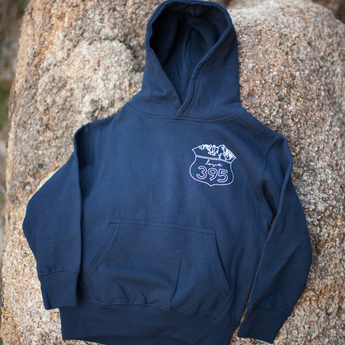 Youth Hoodie, Navy Blue