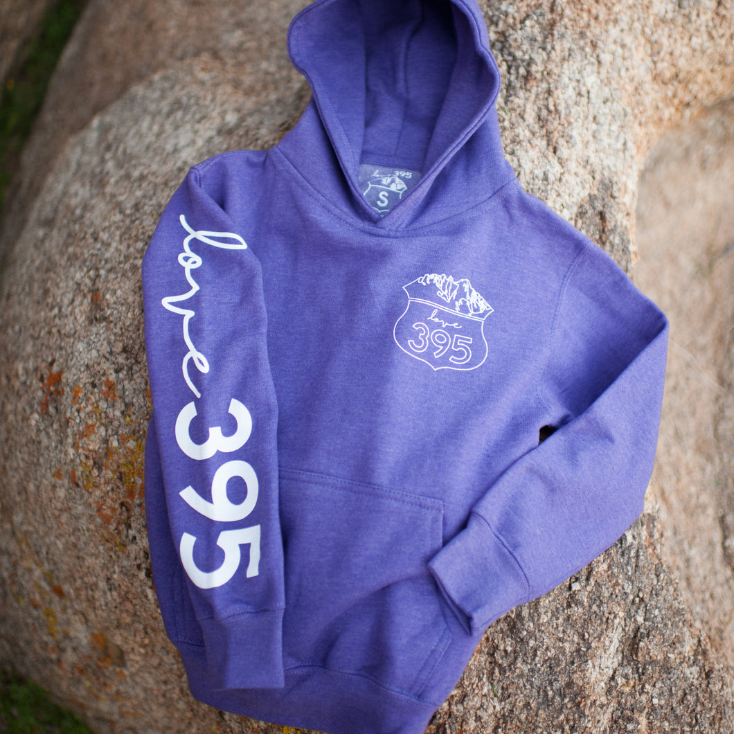 Youth Hoodie, Purple Heather