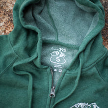 Unisex Logo Zip Hooded Sweatshirt (Moss Green)