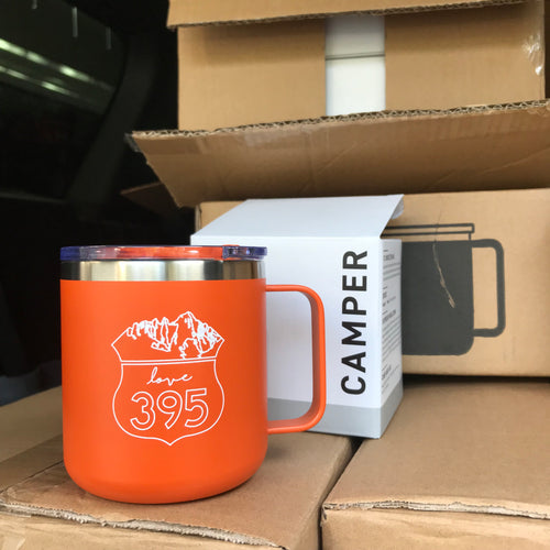 Camper Insulated Mug, Orange