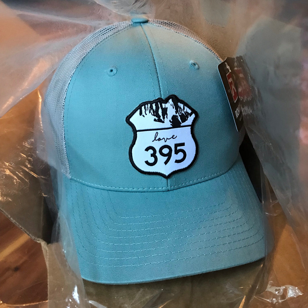 Trucker Hat - Smoke Blue & Aluminum with logo patch