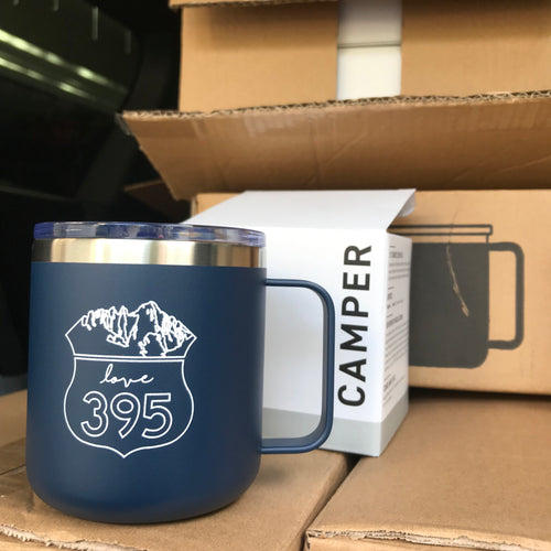 Camper Insulated Mug, Navy Blue