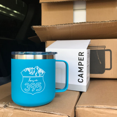 Camper Insulated Mug, Happy Blue