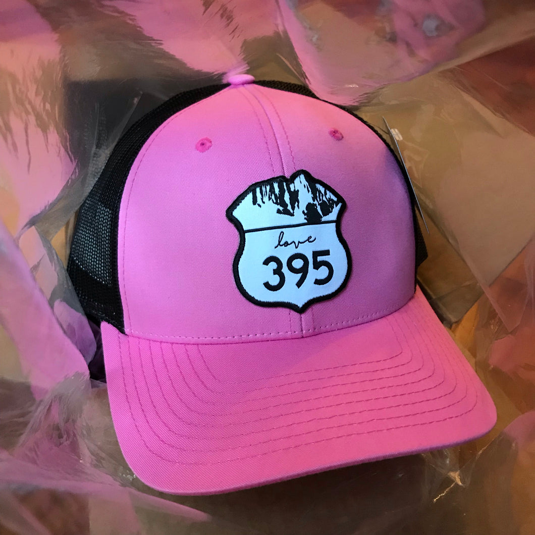 Trucker Hat - Pink & Black with logo patch