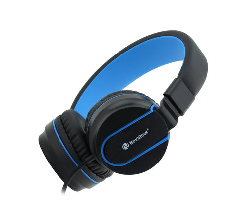 Novateur R11 Headphones with Mic and Extra Bass (Blue) - Novateur Solutions