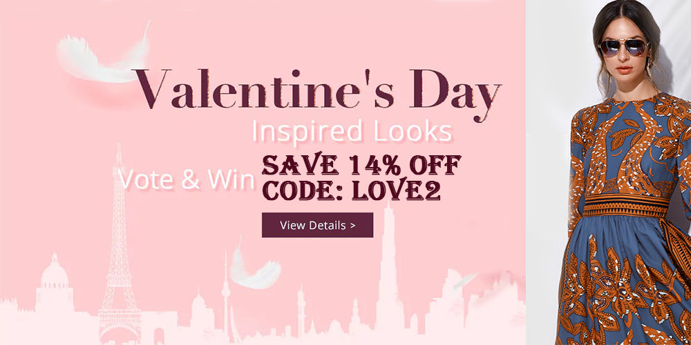 valentine's day, save up to 14% off