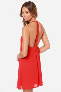 Chicloth Backless Chiffon Summer Dress - Chicloth