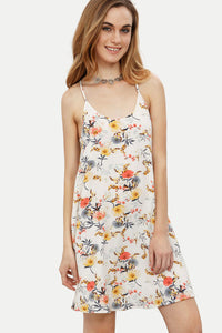 Chicloth Summer Time Floral Slip Dress-Chicloth