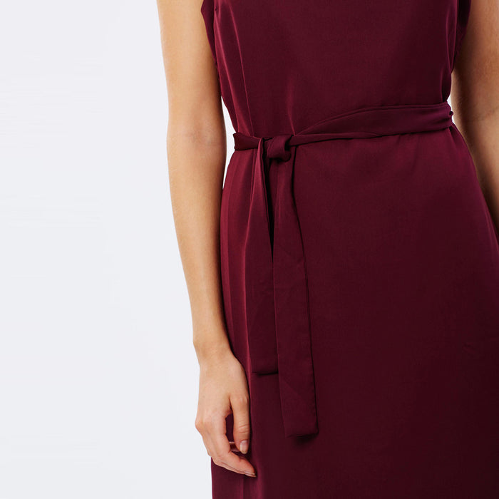 Chicloth Burgundy High Low Dress-Chicloth