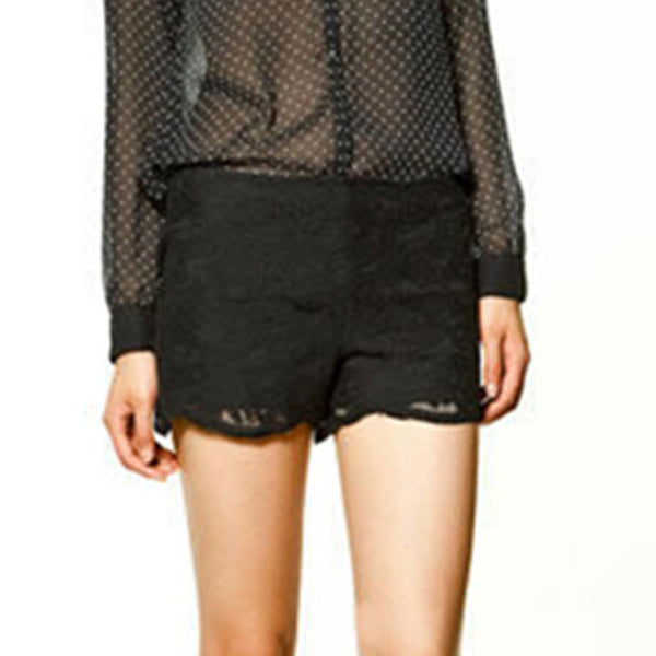 Chicloth Black Lace Short-Chicloth