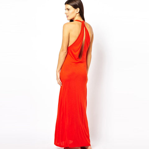 Chicloth Red Sexy Cut-out Maxi Dress