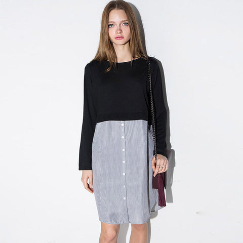 Chicloth Two-piece Office Day Dress